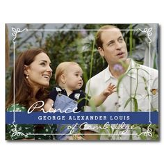 Kate Middleton Prince George Post Card