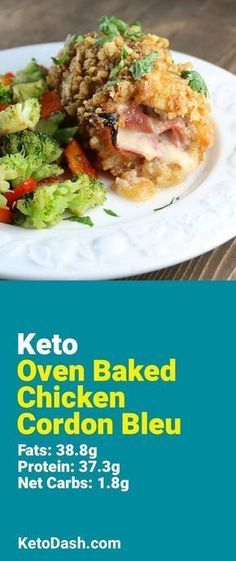 Trying this Oven Baked Chicken Cordon Bleu and it is delicious. What a great keto recipe. #keto #ketorecipes #lowcarb #lowcarbrecipes #healthyeating #healthyrecipes #diabeticfriendly #lowcarbdiet #ketodiet #ketogenicdiet