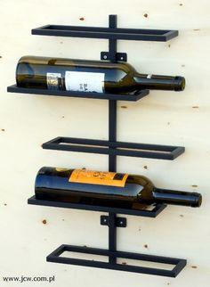 Wine rack material: steel powder paint, matt black structure www.jcw.com.pl