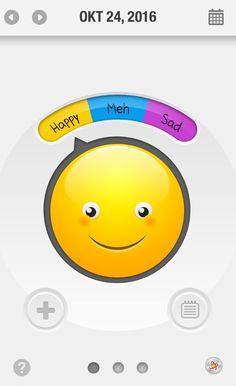 MoodOScope - Iphone App, der Benutzer kann zwischen drei verschiedenen Moods auswählen und diese werden danach in einem Kalender gespeichert. Zusätzlich kann man noch einen Ort oder ein Foto zu dem entsprechenden Mood speichern.