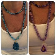 Hand made genuine stones necklaces