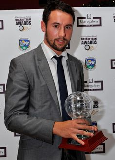 Finan Hanley from Salthill/Knocknacarra with the Senior Dream Team Player of the Year 2012 at the Dream Team Awards 2012 held in Claregalway Hotel on Friday November 30th. Photographer: John McManus