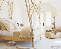 birch/aspen four poster bed