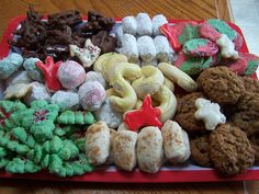 Love baking Christmas cookies - tray sold in 2011