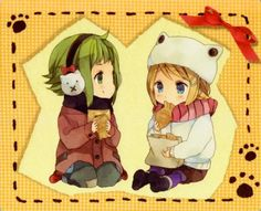 Gumi and Rin (*☻-☻*)