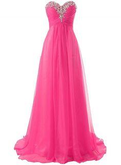 Women's Elegant Rhinestone Bandeau Prom Dress OASAP.com