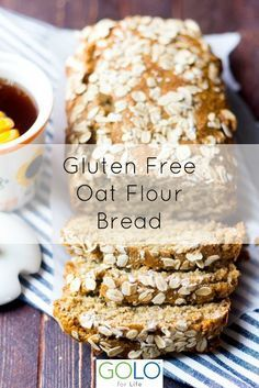 Simple and Easy to make. Gluten Free and Diary Free Recipe. Gluten Free Oat Bread, Gluten Free Baking, Gluten Free Desserts, Dairy Free Recipes, Oat Bread Recipe Gluten Free, Gluton Free Bread, Grain Free Bread, Gluten Free Cornbread, Gluten Free Biscuits