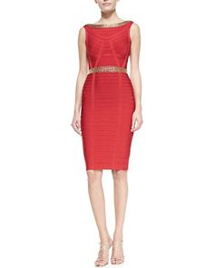 Ardell Chain-Detail Bandage Dress by Herve Leger at Neiman Marcus.