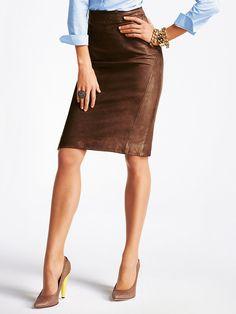 7cde3c42750d57 24 beste afbeeldingen van Leren rok outfits - Pencil skirts