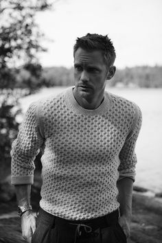 """asloveas: """"  Alexander Skarsgård by photographer André Wolff for The Sunday Times Style Magazine - outtake """""""