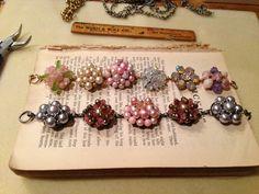 Vintage earring bracelets I made