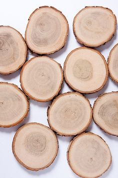 25  oak wood  coasters 3  wooden slices by PlaceCardHolderShop, €19.00