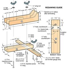 Resawing guide #bandsaw #projects #woodworking #diy