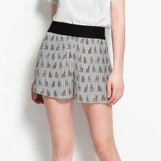 {zara} pleated Scotties shorts Conversation starter! Pale blue grey shorts that swish a bit like a skirt! Black elasticized band. • no offsite transactions • negotiations only through offer tool • new? sign up with code BJHWY for $10 off! Zara Shorts