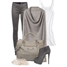 """Shades of Stone"" by orysa on Polyvore"