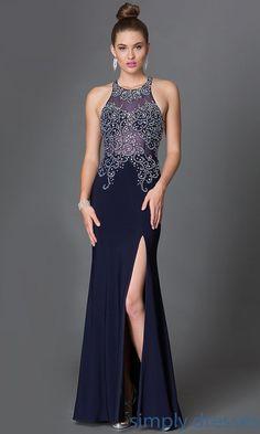 da29e4c1fd Rhinestone Embellished Floor Length Prom Dress