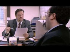 """Big Keith's Appraisal - The Office - BBC (""""Yeah on my feet"""") Youtube Video Clips, Middle Management, Office Uk, Ricky Gervais, Tv Videos, The Life, About Uk, Good Things"""