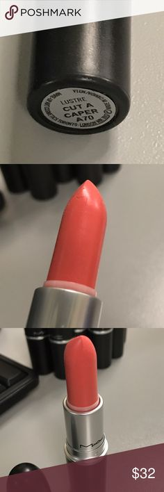 MAC Cut a Caper from A Tartan Tale, LE DC No box. Swatched once with clean lip brush. Beautiful salmon pink shade in Lustre. LE DC. From A Tartan Tale. MAC Cosmetics Makeup Lipstick