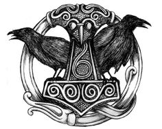 Thor's Hammer with Hugin & Munin~