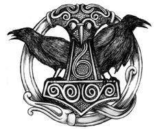 Thor's Hammer with Hugin & Munin~