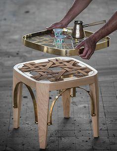 Richard Yasmine remet au goût du jour un mobilier traditionnel libanais. La Khayzaran était une véritable icône des intérieurs de la région. Le designer retravaille la structure de l'assise et épure les lignes afin d'offrir une silhouette élégan...