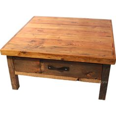 Black Mountain Reclaimed Rustic Square Coffee Table by Timber Designs