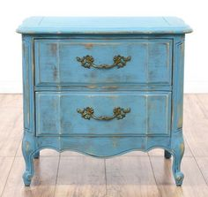 Bourbon Azure Blue Bedside Table | Pinterest | Storage, Blue Bedside Tables  And Furniture Redo