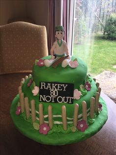 Cricket Birthday Cake, Cricket Cake, Desserts, Food, Tailgate Desserts, Deserts, Essen, Dessert, Yemek