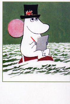 Moominpappa writing his memoirs