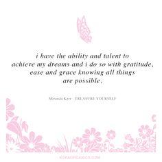 Anything is possible xxx #KORAOrganicsLifestyle #MondayMotivation #TreasureYourself