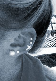 Triple cartilage piercing