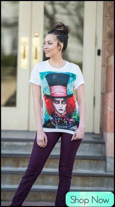 Disney | Alice in Wonderland | Mad Hatter Crew Neck!!! Life changing hand-drawn art from Germany by the infamous Svencha!!! Insta: @pixie_cold :)