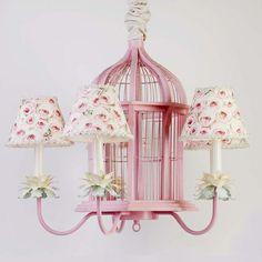 gorgeous birdcage chandelier! so charming!