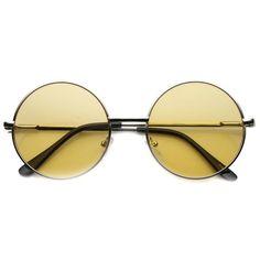 64844f15d3 Retro Hippie Mid Sized Round Color Lens Sunglasses 9814