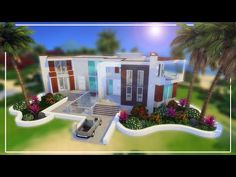Sims 4 Speed Build | Celebrity Beach House - YouTube Sims 4 Build, Celebrity Houses, Beach House, Make It Yourself, Mansions, House Styles, Celebrities, Building, Youtube