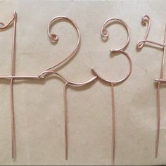 Wire table numbers for wedding or party centerpiece cake topper buyer photo cassie gardner who reviewed this item with the etsy app for iphone greentooth Image collections