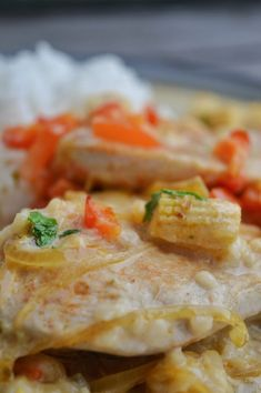 Kycklinggratäng med Kavli hot jalapeno Foodies, Bread, Diet, Chicken, Blog, Red Peppers, Breads, Loosing Weight, Baking