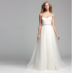 Classic, strapless ballgown #weddings #Nordstrom