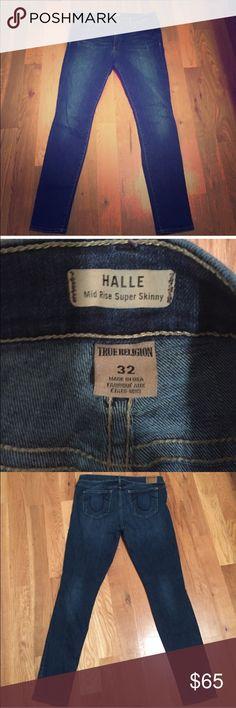 ⭐️FLASH SALE⭐️ True Religion Halle Skinny Jeans 32 Hallie fit. 2% stretch. True Religion Jeans Skinny