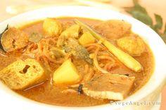 #Vegan Asian Curry Noodle Soup 咖哩汤面