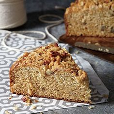 Eggnog Coffee Cake | MyRecipes.com ~ We know that usually there's no such thing as leftover eggnog. If you do, by chance, have some to spare, get to work making this must-try breakfast treat. It's heaven on a plate.