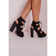 d77eaafe2f9 Missguided Lace Up 70 s Platform Sandals (4.140 RUB) ❤ liked on Polyvore  featuring shoes