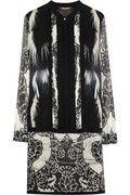 Roberto Cavalli|Printed silk-georgette dress|NET-A-PORTER.COM