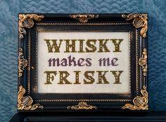 Whisky makes me Frisky by stitchFIGHT, via Flickr