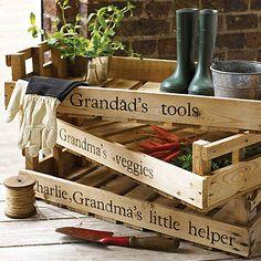 Personalised vintage crates