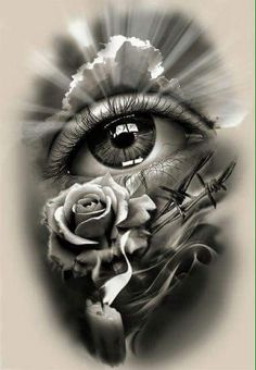 Tattoo Design, realistic eye with rose and candle. dessins de tatouage 2019 dessins de tatouage 2019 Tattoo Design, realistic eye with rose and candle. Skull Tattoos, Rose Tattoos, Leg Tattoos, Body Art Tattoos, Sleeve Tattoos, Tattoo Thigh, Tatoos, Future Tattoos, Tattoos For Guys