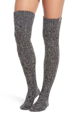 Create Magic Save The Bees Womens Thigh High Socks Cotton Striped Long Over The Knee,