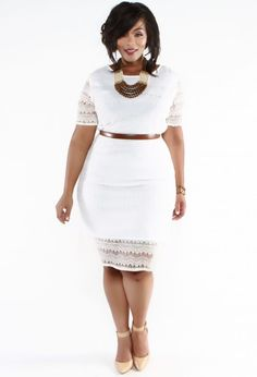 You Oughta Know: Plus Size Fashion Designer Wolé Designs http://thecurvyfashionista.com/2017/04/plus-size-fashion-designer-wole-designs/ The LWD (Little White Dress) goes lacy!!! Do you like fly, fashionable clothing with just the right amount of flash? Then You Oughta Know Atlanta-based plus size designer, Wolé Designs!!