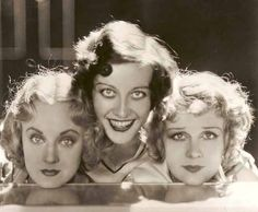 Dorothy Sebastian, Joan Crawford, Anita Page in a publicity photo for the 1928 hit Our Dancing Daughters.