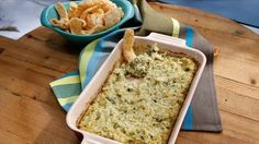 Marcela makes a cheesy poblano artichoke dip that's perfect for a party.